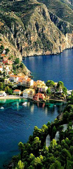 Assos, Kefalonia Island Greece - Travel Tips Places Around The World, Oh The Places You'll Go, Travel Around The World, Places To Travel, Travel Destinations, Places To Visit, Around The Worlds, Voyage Europe, Greece Travel
