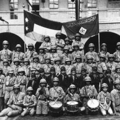 "Jews is Iraq? Yep. circa 1908-1910 We often forget that there was a thriving population of Jews in the Middle East until very recently.  Patriotic Jews that strongly identified with the countries they lived in.  Here is a powerful images of a Jewish ""scout"" group in Iraq in the early 20th century.  Behind them is their club flag and the Iraqi flag of the time.  They look so normal.  They fit in so well."