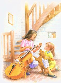 Martine y sus amigos Marcel, Mother Art, Art Easel, Watercolor Pictures, Gif Animé, Children's Book Illustration, Book Illustrations, Cartoon Pics, Light Painting