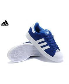 size 40 3a643 5e328 Newest Adidas Superstar Mens Blue Lace-Up Sneakers T-1035 Nike Fashion,  Sneakers