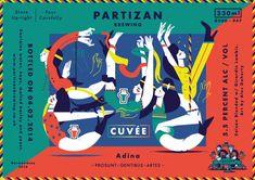 Etiquetas ilustradas para la cerveza artesanal Partizan Brewing