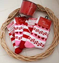 Valentine's Day Sock Wreath Tutorial
