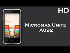 Micromax Unite A092 listed online 1.2 GHz Quad Core Processor, 1500mAh Battery Price, Specification