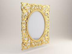 3D Model Classic mirror c4d, obj, 3ds, fbx