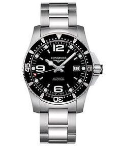 Longines Watch, Men's Stainless Steel Bracelet L36424566
