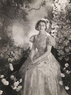 Queen Elizabeth before she came to the throne, photographed by Cecil Beaton.