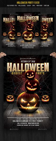Halloween Flyer V21 Psd templates, Template and Flyer template - halloween template