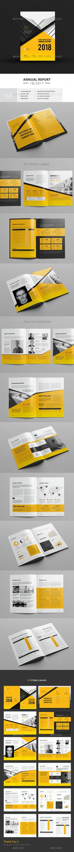 Annual Report — InDesign INDD #elegant #clean • Download ➝ https://graphicriver.net/item/annual-report/20133436?ref=pxcr