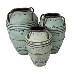Make a stylish and distinct statement with these impressive rustic metal vase Set. Elegant and eye catching, these vases are perfect decorative pieces for an office, home, or any special space that may need a touch of class and style.
