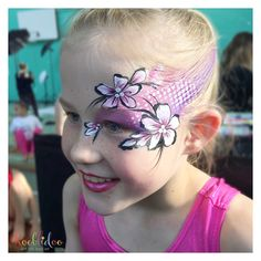 Gymnastics face paint designs by Rooblidoo