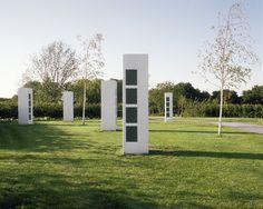 Karres en Brands landscape architecture cemetery Langedijk Urn Columns_ photo Saph_Rob de Jong « Landscape Architecture Works | Landezine