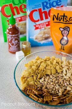 Honey Sriracha Chex mix