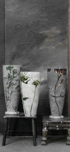 ♅ Dove Gray Home Decor ♅  Clare Basler vases