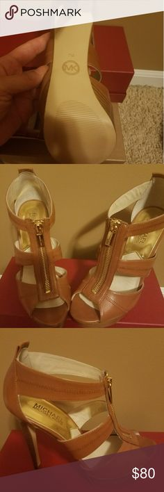 Michael Kors Berkley Leather Sandals Brand new Michael Kors.  Tags are not attached but shoes have never been worn.  No box Shoes Sandals