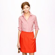 Stretch perfect shirt in mini-gingham with City Mini - J.Crew