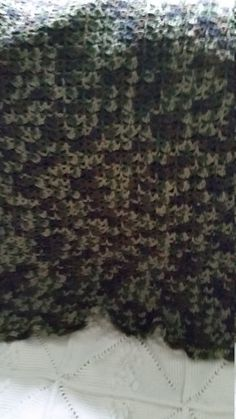 Camouflage afghan by afghansandmore1 on Etsy