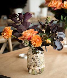 Simple flower arrangement.