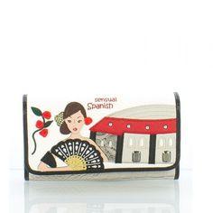 Portafoglio Braccialini Cartoline Spain #portafogli #wallets #braccialini #cartoline