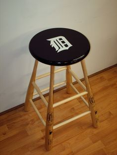 baseball bat bar stool... yankees idea