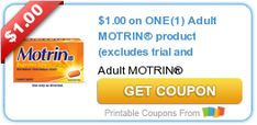 Tri Cities On A Dime: SAVE $1.00 ON ADULT MOTRIN PRODUCT