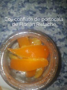 Coji de portocala si lamaie confiate. Dulceata de coaja de portocala sau lamaie confiata nu-mi lipseste din casa. O folosesc des la deserturi (prajituri, creme, torturi, cozonaci) si mi-o prepar singura dupa o reteta de familie verificata in timp (de vreo 100 de ani). Din 3 portocale imi iese un borcan de 400ml de coaja