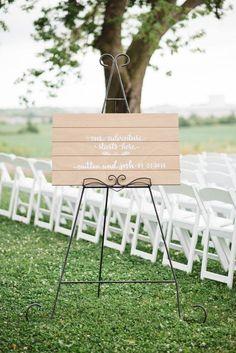 Wedding Signage • Handlettered by Laura Fraser