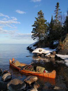 Winter on the Lakes, Minnesota - Pixdaus #canoe