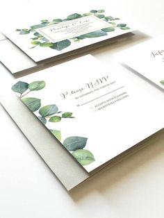 Eucalyptus Wedding Invitation Botanical Wedding Invitation