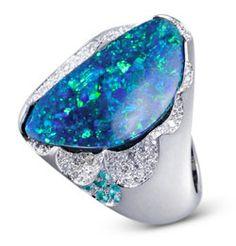 Collection Prémonition Opale : Bureau de Presse des Joailliers Créateurs - joaillerie, bijoux, opale #opalsaustralia