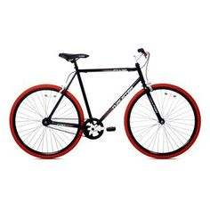 Kent Thruster Men's Fixie Bike Black/Red,Ideal Professional City Road Bike in Sporting Goods, Cycling, Bicycles Fixed Gear Bicycle, Urban Bike, Urban Road, Speed Bike, Bicycle Maintenance, Bikes For Sale, Bike Chain, Cool Bike Accessories, Bike Seat