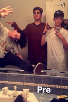 Nash and jack and jack on Jack Johnson's snapchat
