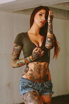 …❤️Inked Honey! Miss Angela Mazzanti Belles Femmes Tatouee's