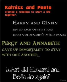 Just, like totally FANGIRLED WHEN I SAW ALL THEIR NAMES!!!!!!! #percabeth i was really upset when i saw edward and bella. :(