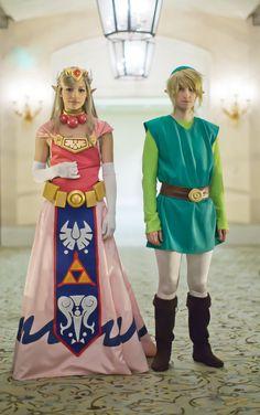 Zelda & Link (The Legend of Zelda) by *akuriko