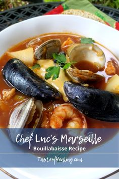 Seafood Soup Recipes, Seafood Dishes, Fish And Seafood, Fish Recipes, Clam Fish, Fish Chowder, Fish Soup, Boulliabaise Recipe, Seafood Bouillabaisse