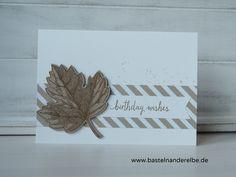 basteln an der Elbe, Geburtstagskarte für Männer, birthday card, Vintage Leaves, Stampin Up