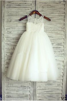 Flower Girl Dresses Lace Baby Girl Birthday Party Christmas Communion Dresses
