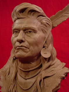 Chief Joseph Clay Sculpture by Greg Polutanovich