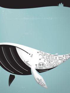 whale by Alexandre Mauro, via Behance