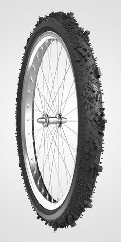 Bicycle wheel, texture, city, rubber