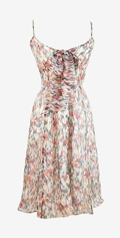 Burberry London Ivory, Grey And Red Dress
