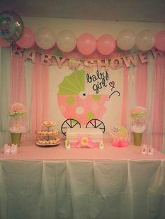 Dollar store baby shower decoration