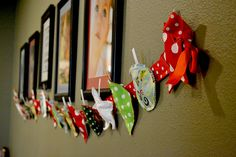 Garland of GIVING or Advent Calendar of Giving (polkadots on parade)