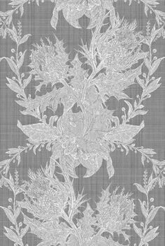 Thistle in Ivory from Timorous Beasties #cotton #fabric