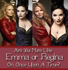 "Are You More Like Emma Or Regina On ""Once Upon A Time"" I got Regina she's my favorite!"