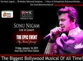 The Epic #Event - Sonu Nigam Live in #Dubai on the 16th January 2015 , Details @ http://www.oforo.com/concerts.php