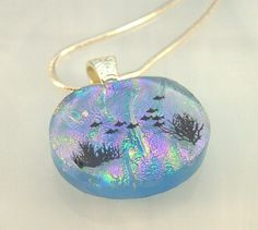 Dichroic Pendant  Dichroic Fused Glass Pendant  by TremoughGlass, $30.00