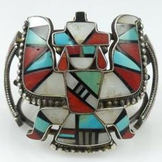 Vintage Zuni Inlay Cuff by Vintage Collection - Garland's Indian Jewelry. $850