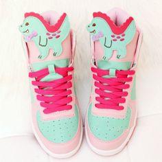Japanese kawaii cartoon dinosaur sneakers