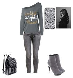 """""""Grey Outfit"""" by rachel-anne-armstrong-toro ❤ liked on Polyvore featuring Levi's and Jil Sander"""